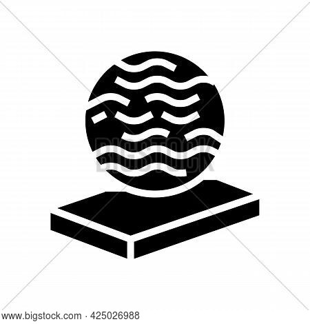 Glass Mineral Wool Glyph Icon Vector. Glass Mineral Wool Sign. Isolated Contour Symbol Black Illustr