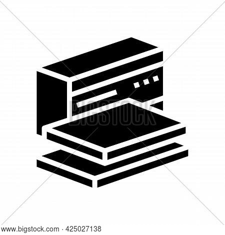 Packaging Mineral Wool Glyph Icon Vector. Packaging Mineral Wool Sign. Isolated Contour Symbol Black