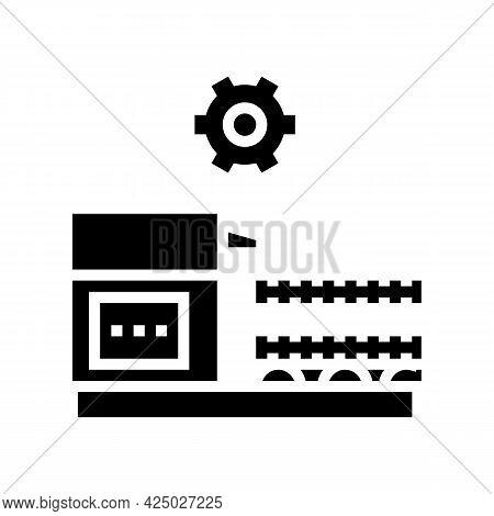Production Rebar Glyph Icon Vector. Production Rebar Sign. Isolated Contour Symbol Black Illustratio