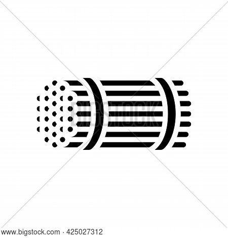 Packaging Rebar Glyph Icon Vector. Packaging Rebar Sign. Isolated Contour Symbol Black Illustration