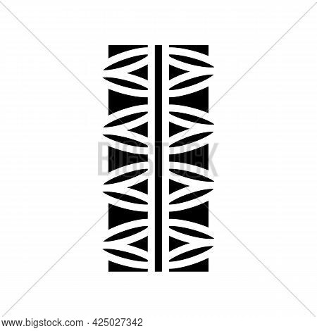 Steel Rebar Glyph Icon Vector. Steel Rebar Sign. Isolated Contour Symbol Black Illustration