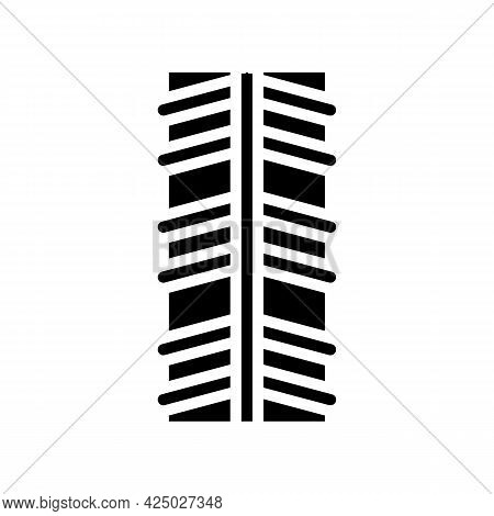 Stainless Rebar Glyph Icon Vector. Stainless Rebar Sign. Isolated Contour Symbol Black Illustration