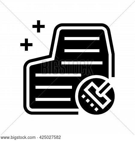Car Carpet Washing Glyph Icon Vector. Car Carpet Washing Sign. Isolated Contour Symbol Black Illustr