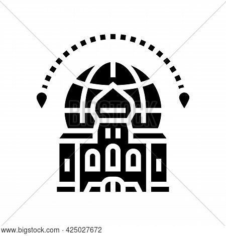 Cultural Tourism Glyph Icon Vector. Cultural Tourism Sign. Isolated Contour Symbol Black Illustratio
