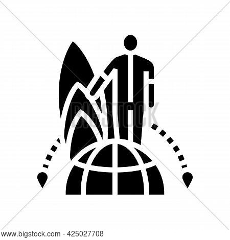 Water Sport Tourism Glyph Icon Vector. Water Sport Tourism Sign. Isolated Contour Symbol Black Illus