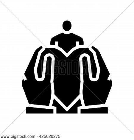 Son Or Daughter Adoption Glyph Icon Vector. Son Or Daughter Adoption Sign. Isolated Contour Symbol B