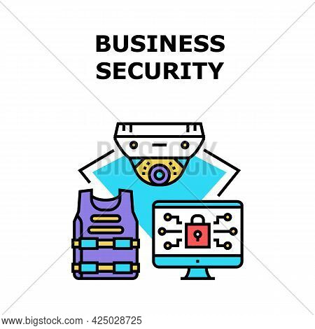 Business Security Device Vector Icon Concept. Cctv Video Camera Business Security Device, Guard Bull