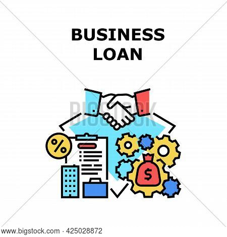 Business Loan Vector Icon Concept. Business Loan For Startup And Development, Innovation Or Renovate