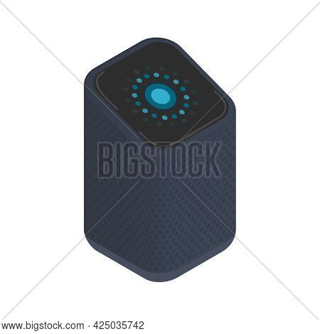 Wireless Smart Speaker With Voice Control Isometric Icon Vector Illustration