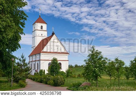 Old Antique Orthodox Transfiguration Church At Summer, Zaslavl, Minsk Region. Belarus