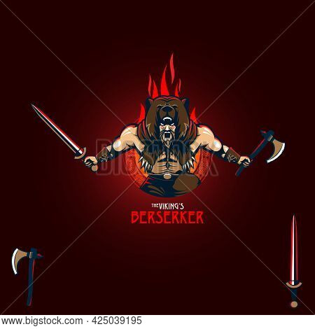 Viking Fearless Elite Squad Vector Illustration Can Be Used As Design Element, Esport Logo, Tshirt P