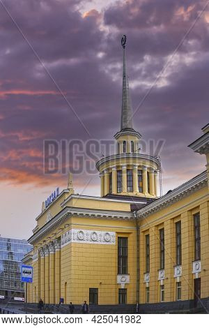 Petropavlovsk-kamchatsky, Russia-june 3, 2015: Landscape With A View Of The Railway Station Building