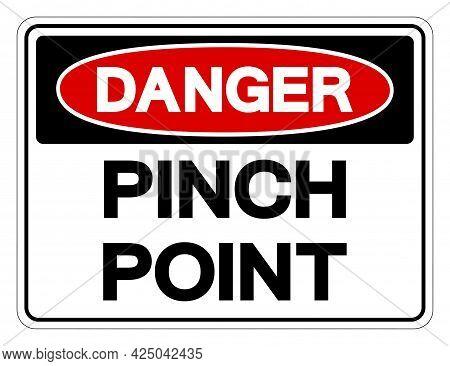 Danger Pinch Point Symbol Sign,vector Illustration, Isolate On White Background Label. Eps10