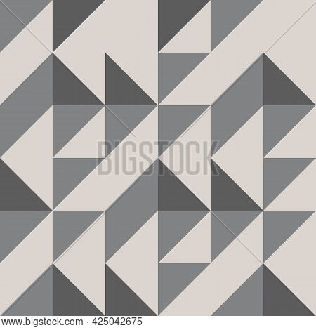 Linear Triangle Vector Pattern With Triangle Connected Each. Graphic Clean Design For Fabric, Event,