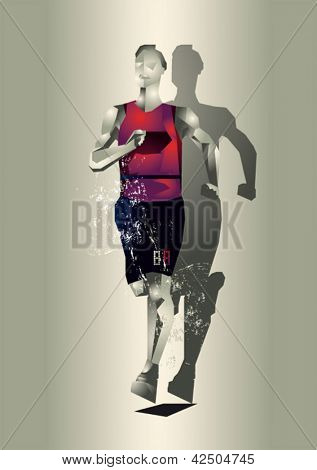 abstract runner illustration