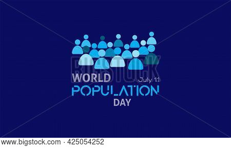 World Population Day Vector Template Observed On July 11 Every Year. Day Of Raise Awareness Of Globa