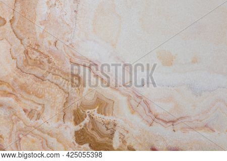 Natural Brown Onyx Stone Texture For Design And Artwork.