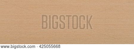 Light Beige Maple Veneer Background As Part Of Your Design. Natural Wood Texture, Pattern Of A Long