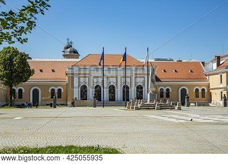 Alba Iulia, Alba, Romania -  May 11, 2021: Inside The Alba Carolina Citadel, Alba Iulia, Transylvani