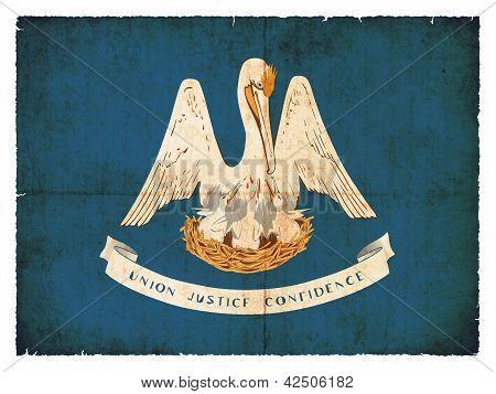 Grunge Flag Of Louisiana (usa)
