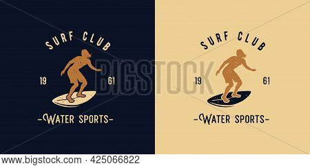Surfer For Surfing Print. Surfbord For Surf Style