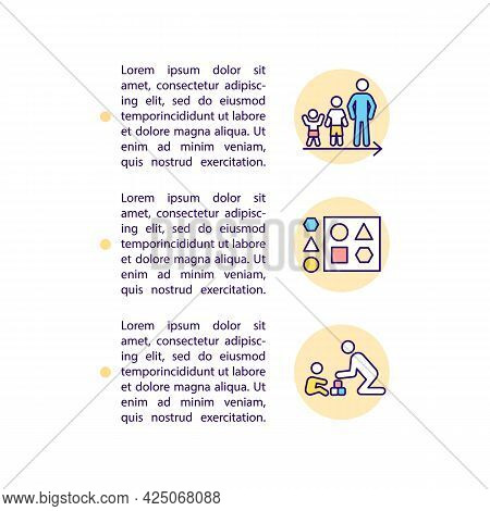 Developmental And Behavioral Screening Concept Line Icons With Text. Ppt Page Vector Template With C