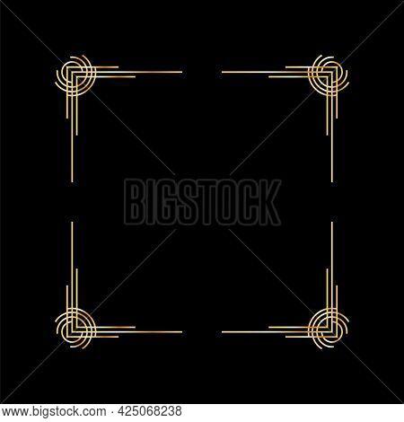 Art deco frame. Artwork graphic pattern. Orante wedding invintation background template. Vintage retro style banner or label design. design object