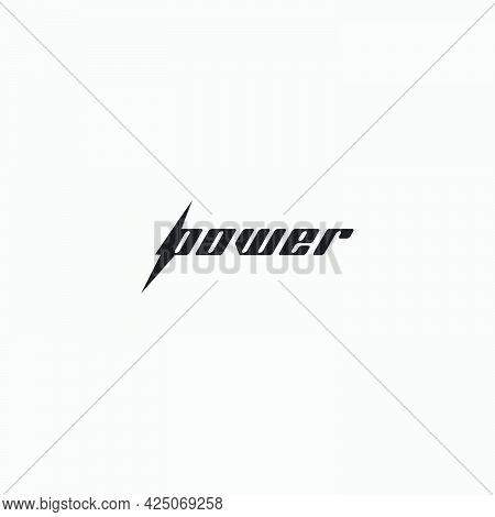 Power Blitz Logo Design Typography Electric Strong