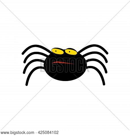 Cute Spider Halloween Character - Vector. Funny Spider For You Design