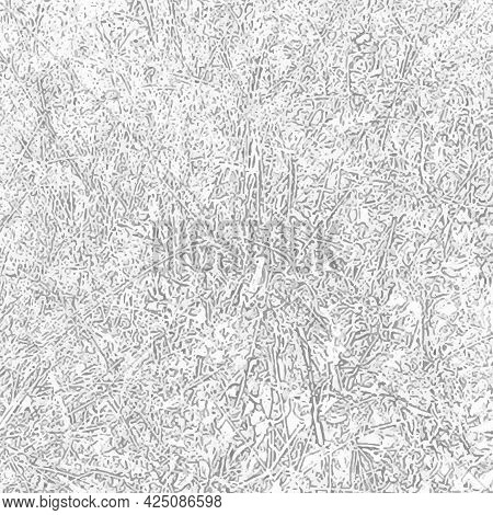 Vector Abstract Illustration Of Lines, Stripes And Spots. Graphical Tracing Of The Image Of Grass An