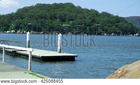 Hawkesbury River on Sydney Central Coast NSW Australia turquoise blue waters lush green mountains