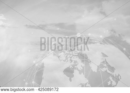 Global network patterned   texture background