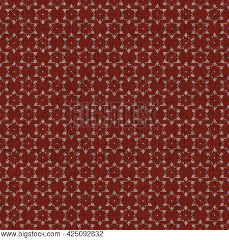 Seamless French Red Gray Farmhouse Woven Linen Texture. Two Tone Neutral Shabby Chic Pattern Backgro