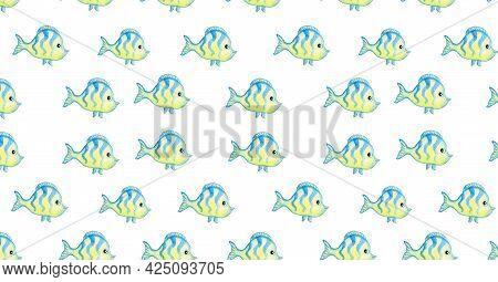 Cute Cartoon Fish Von Banner For Social Networks