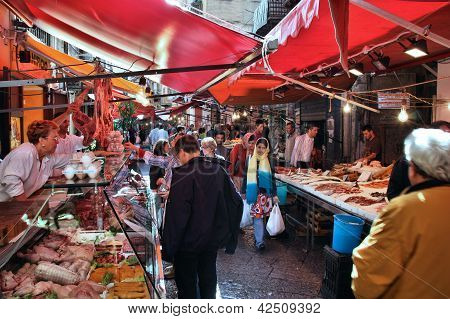 Food Market In Palermo