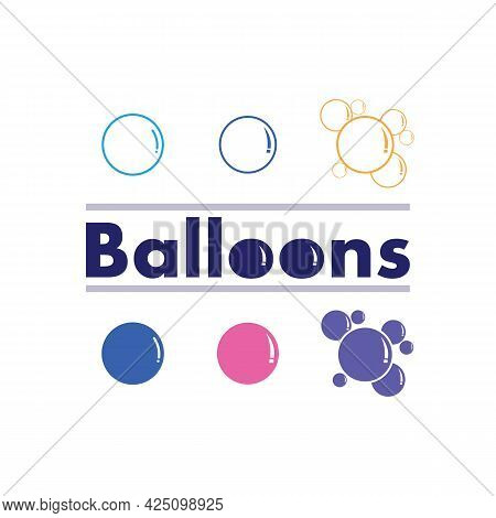 Baloon And Buble Flying Vector Festive Balloons Shiny With Glossy Balloons For Holiday