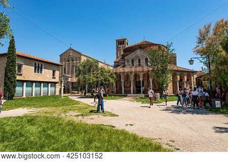 Torcello, Italy - June 2, 2021: Torcello Island, Basilica And Cathedral Of Santa Maria Assunta In Ve
