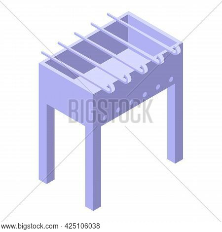 Bbq Equipment Icon Isometric Vector. Barbecue Grill. Barbeque Party Tool