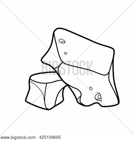 Sandstone Coloring Book Linear Drawing Isolated On White Background