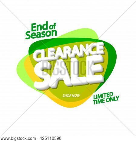 Clearance Sale, Banner Design Template, Discount Tag, Promotion Poster