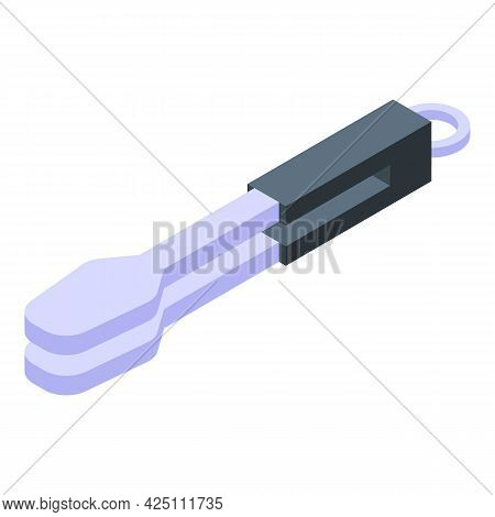 Bbq Tongs Icon Isometric Vector. Grill Cooking Tongs. Kitchen Barbecue