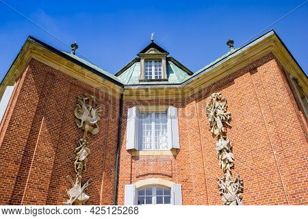 Decorated Facade Of The Central Building At Clemenswerth In Sogel, Germany