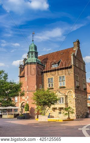 Historic Town Hall Building On The Market Square Of Meppen, Germany
