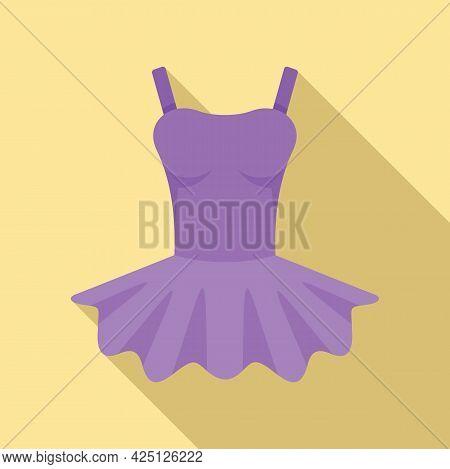 Ballerina Clothes Icon Flat Vector. Ballet Baby. Dance Princess Dress