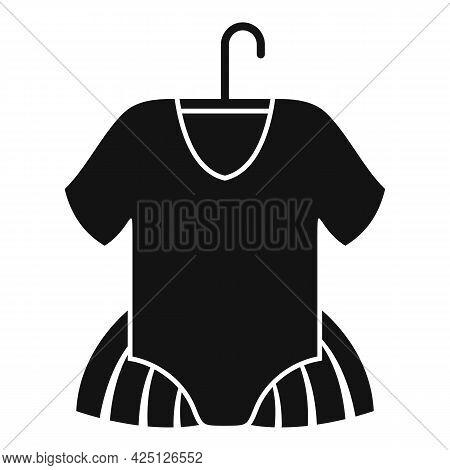 Ballet Kid Dress Icon Simple Vector. Ballerine Dance Girl. Tutu Dancer Dress