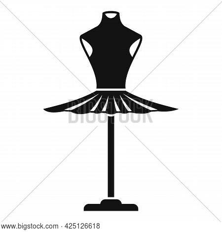 Ballerina Dress Icon Simple Vector. Princess Ballet Dress. Cute Girl Skirt