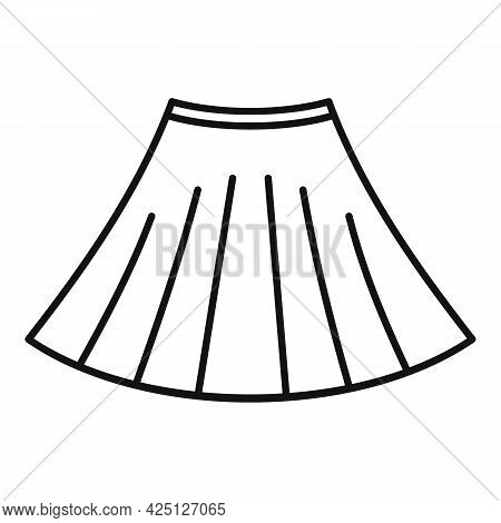 Ballerina Skirt Icon Outline Vector. Ballet Dancer Dress. Dance Kid Skirt