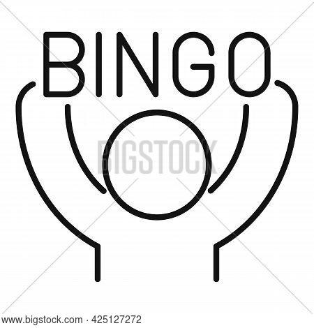 Bingo Win Icon Outline Vector. Lottery Game. Lotto Prize