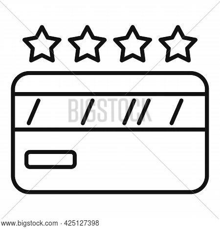 Lotto Card Icon Outline Vector. Lottery Ticket. Win Scratch Bingo