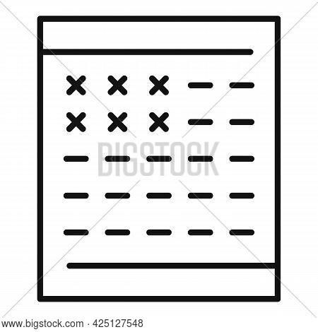 Winner Lotto Ticket Icon Outline Vector. Win Game Scratch. Card Lottery